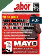 LABOR 15 Mayo 2019 Vocero impreso y digital de la Confederación General de Trabajadores del Perú - CGTP