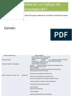 Cómo Redactar Un Trabajo de Investigación -Edu.primaria