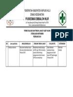 Form Tindak Lanjut Evaluasi -Feb
