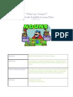 What Are Nouns Lesson Plan 1.pdf