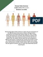 body systems unit plan  2