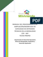 Manual Del Procedimiento de Ampliacion Capacidad de Et Csp