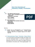 Devotees Petition Tiruchendur