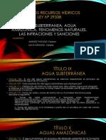 3 Agua Subterranea, Agua Amazonica, Fenomenos Naturales