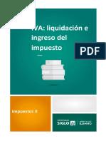 IVA_ Liquidación e Ingreso Del Impuesto