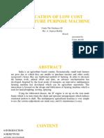 multi purpose agriculture machine