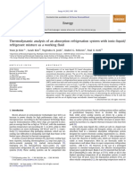 2012_Thermodynamic Analysis of an Absorption Refrigeration System With Ionic-Liquid-Refrigerant Mixture as a Working Fluid