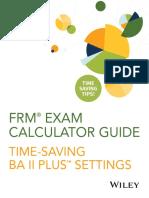 FRM Exam Calculator Guide FAQ 2018