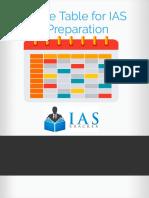 IAS Preparation Time Table