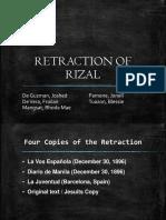 Retraction of Rizal Final