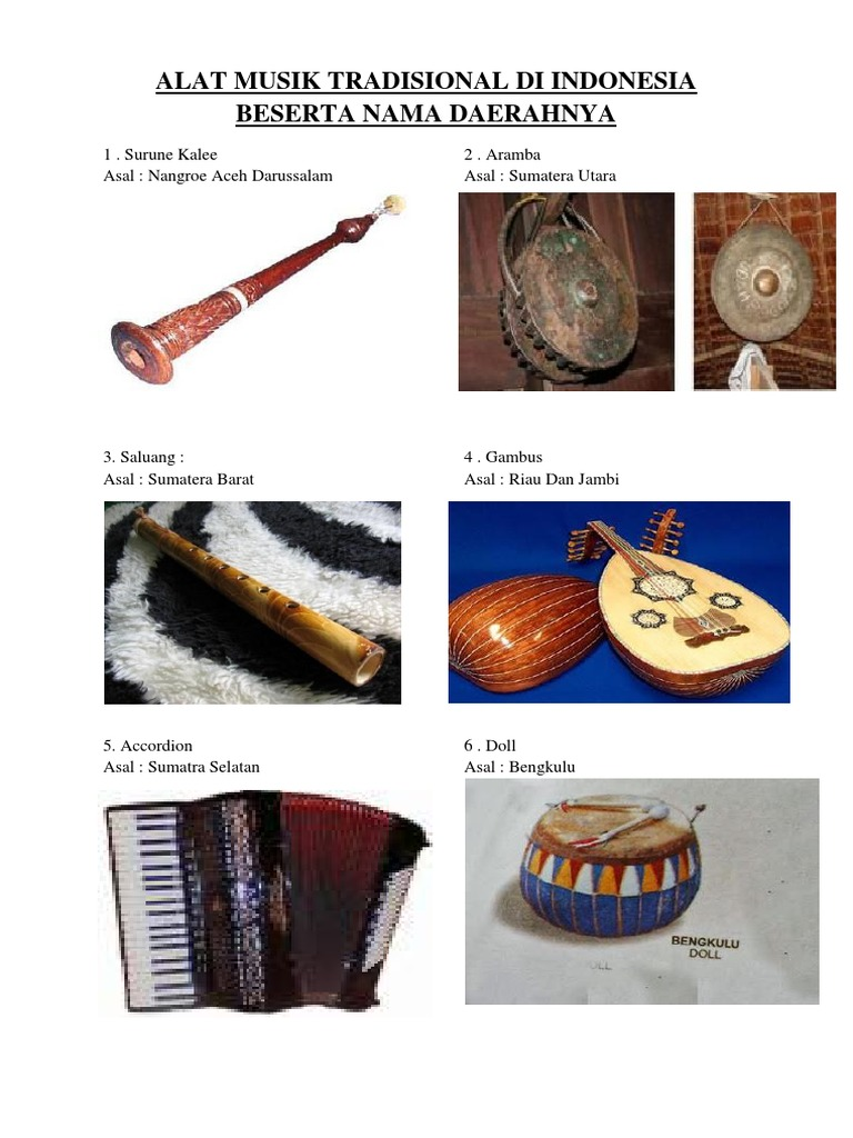 54 Gambar Alat Musik Beserta Namanya Paling Keren