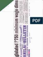 Manila Bulletin, May 2, 2019, Legislated P750 minimum wage dims.pdf