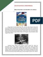 Sejarah Kelahiran Politik Luar Negeri Yang Bebas Aktif