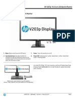 HP V203p 19.5-Inch Monitor - Specifications