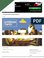 ¿Cómo Gana Dinero Goldman Sachs