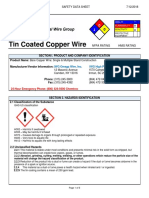 Tin Coated Copper Wire SDS_V2