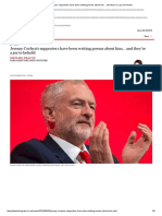 Jeremy Corbyn's supporters have been writing poems about him...pdf