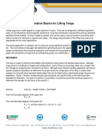 Application Basics for Lifting Tongs Technical Paper
