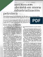 Edgard Romero Nava El Estado Esta en Mora Con Industrializacion Petrolera - El Nacional 1.7.1985