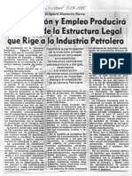 Edgard Romero Nava Revision Estructura Legal Industria Petrolera - El Universal 11.04.1985