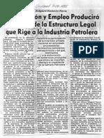 Edgard Romero Nava Revision Estructura Legal Industria Petrolera - El Universal 11.04.1985