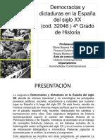 Democracias y dictaduras. Presentaci¢n