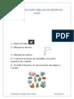 Instrucción Para Dibujar Un Delfín en Paint