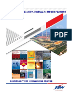 Ferrous Matallurgy Journals- Impact Factors
