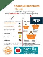 Affiches collecte de printemps de la Banque Alimentaire de Savoie