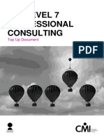 CMI L7 Qualification Professional Consulting Top Up Document