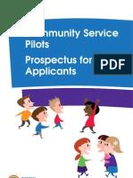 Community Service Pilots Prospectus for Applicants[1]