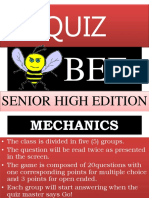 Quiz Bee Research for Obervation