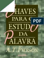 Chaves Para o Estudo Da Palavra - Arthur Pierson