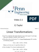 Week 2 Linear Transformations