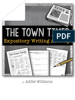 Expository Writing Students Create a Themed Newspaper