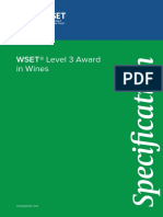 Level 3 Award in Wines Specification