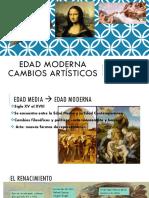 Edad Moderna-cambios Artísticos -Renacimiento