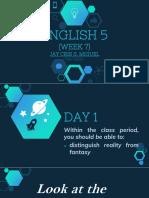 English 5 Week 7 (Day 1-5)