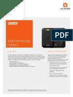 Schlage Multi Technology Readers Data Sheet 105354
