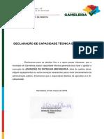 Declaração Capac Tecnica Patrulha Mecanizada Gameleira 2018