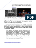 The Ron Paul Farewell Speech in Tampa