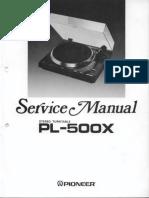 Pioneer PL 500X Service Manual