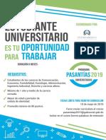 Margarita Cedeño promueve primer empleo en  jóvenes universitarios