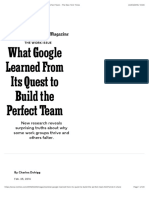 What Google Learned From Its Quest to Build the Perfect Team - The New York Times