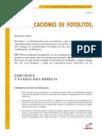 Especifiaciones de Fotolitos