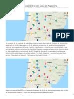 Mapa del cupo laboral travesti-trans en Argentina