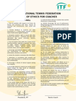Tennis CODE OF ETHICS FOR COACHES