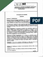Ley _1562 de 2012_sistema de Riesgos_laborales