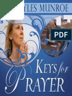 Keys for Prayer - Myles Munroe