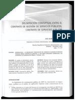 delimitacion conceptual contrato de servicios, concesiones y ppp